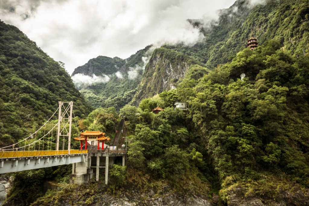 Bridge at Tianxiang in Taroko Gorge, Taiwan