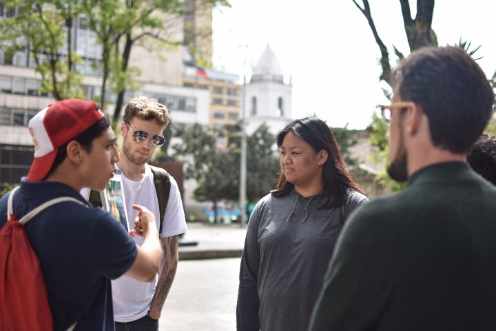 Tour of historical area of downtown Bogotá