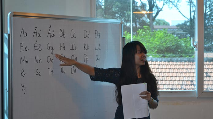 The in-class TESOL course includes lessons on the local language, culture, society and politics.