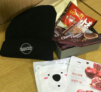 TravelBud's giftpack to students