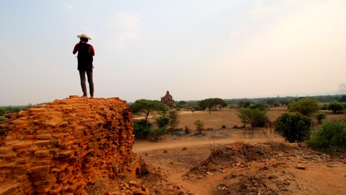 photographer looking over Bagan