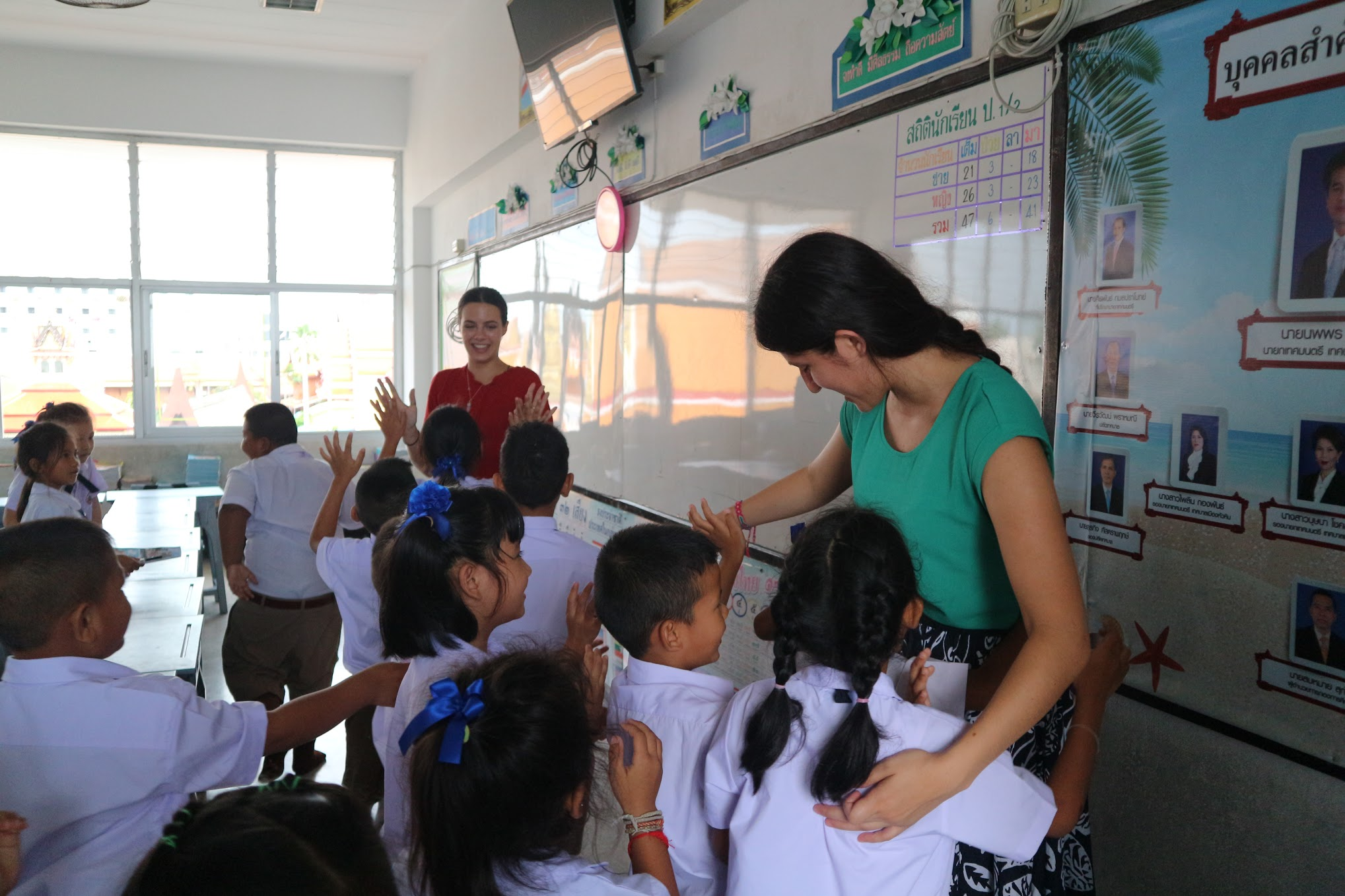 English teachers in the classroom in Thailand