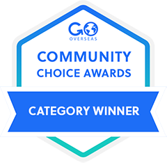 TravelBud GoOverseas Community Choice award for the Best TEFL Course with Job Assistance in 2019